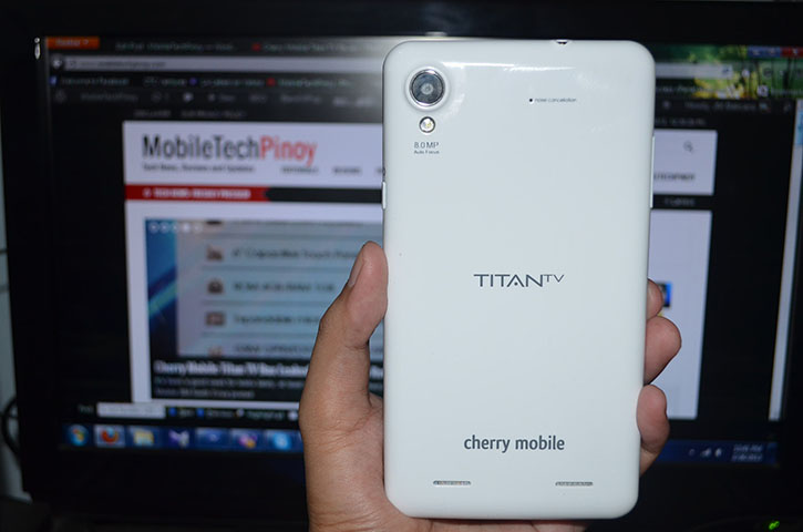 Cherry Mobile Titan TV Back View