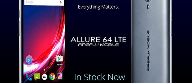 Firefly Mobile Allure 64 LTE Front and Back